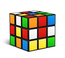 Immagine decorativa e illustrativa - Un cubo di Rubik 3 per 3